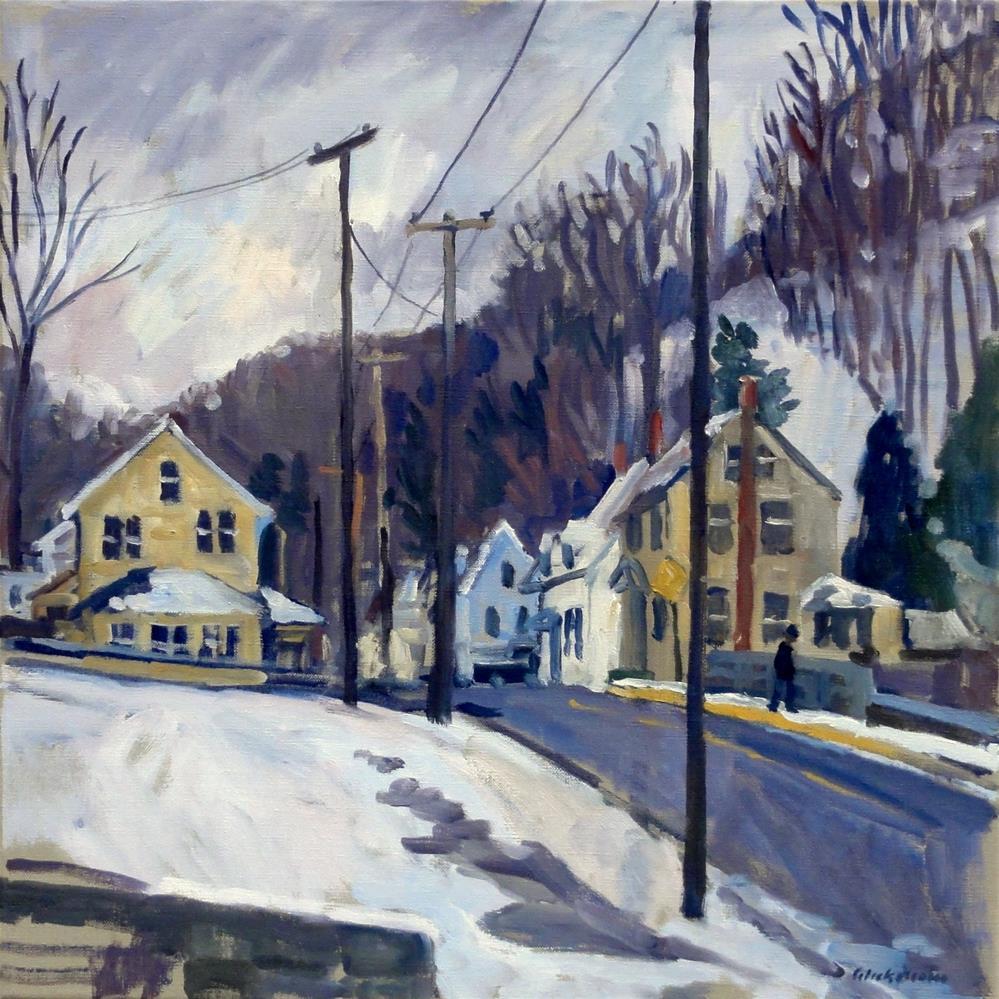 """First Snow, North Adams Massachusetts"" original fine art by Thor Wickstrom"