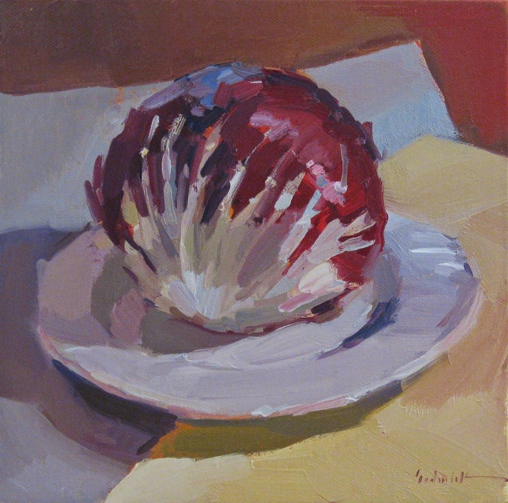 """Red Cabbage (sketch)"" original fine art by Sarah Sedwick"