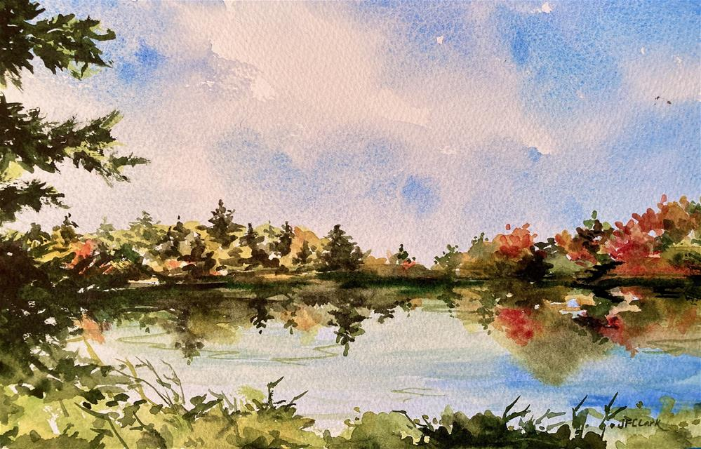 """Sturbridge Mill Pond"" original fine art by Judith Freeman Clark"
