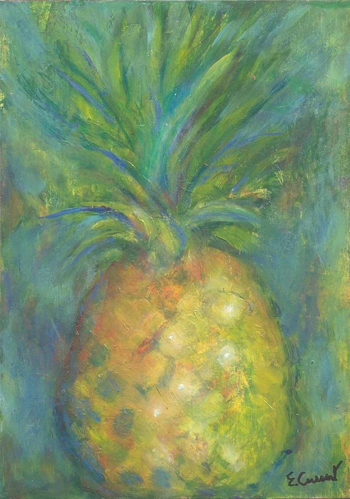 """Pineapple"" original fine art by Elizabeth Current"