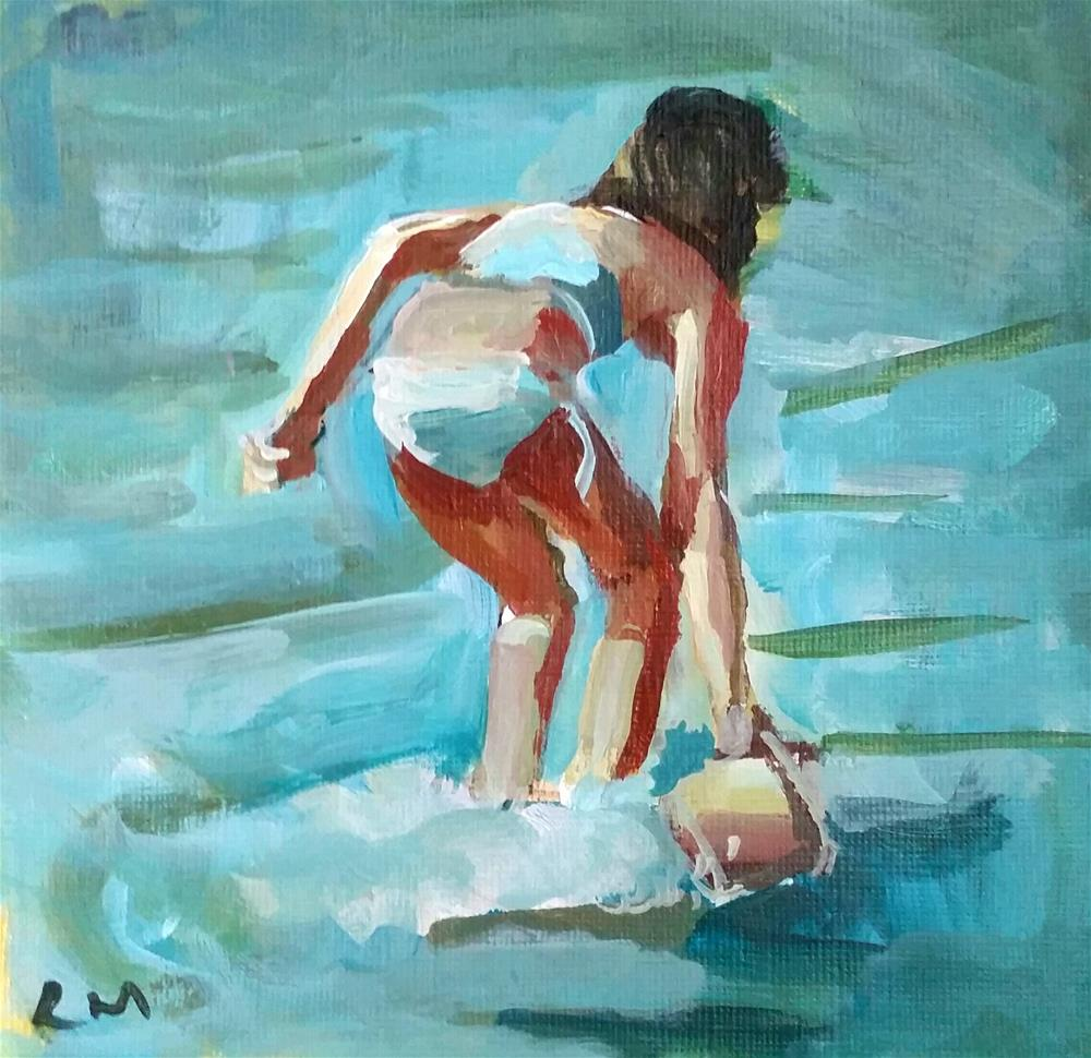 """Little Water Collector"" original fine art by Liz Maynes"