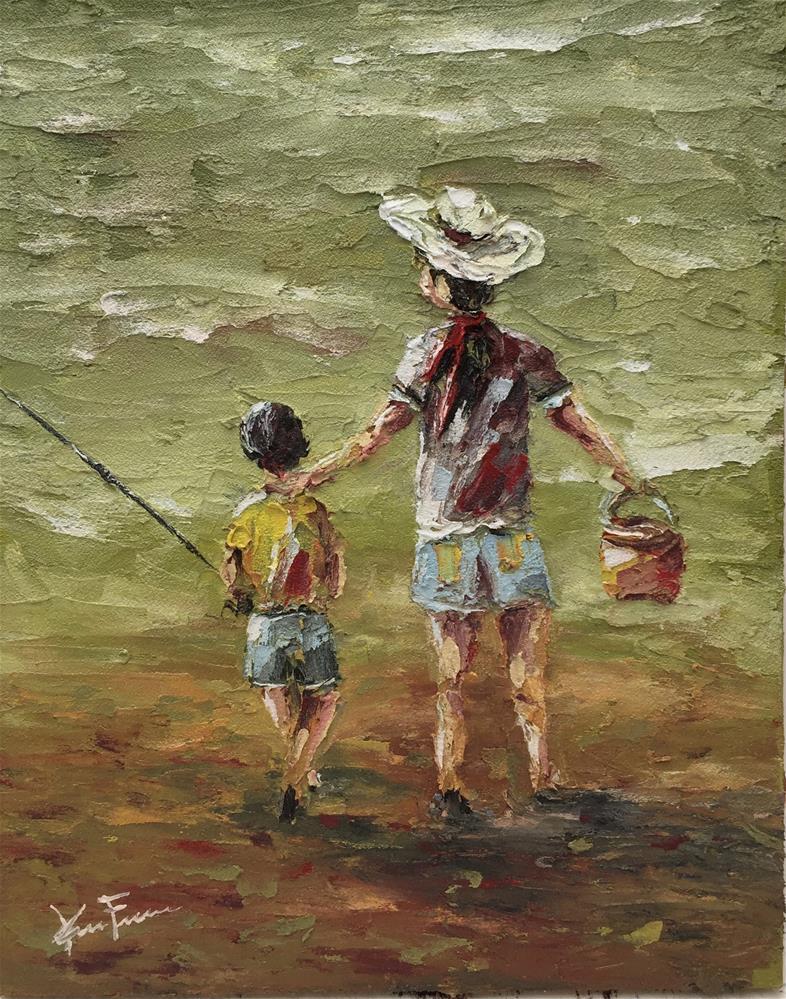 """""""My Big Sister"""" original fine art by Ken Fraser"""