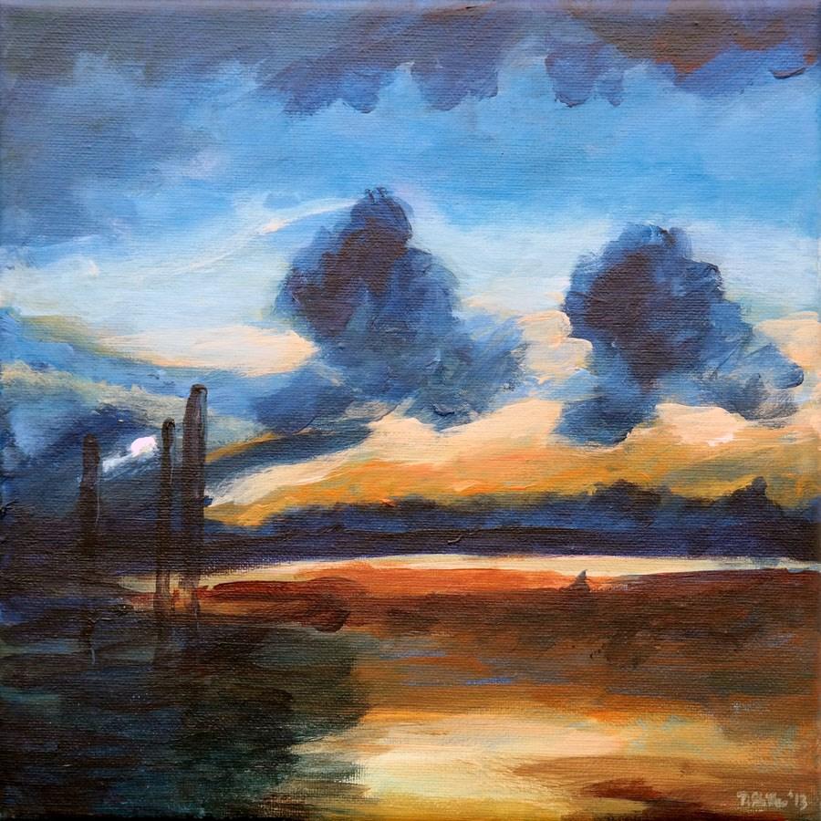 """0710 Shadow of a Lonely Man"" original fine art by Dietmar Stiller"