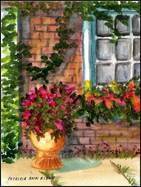"""Leaves and Shadows"" original fine art by Patricia Ann Rizzo"