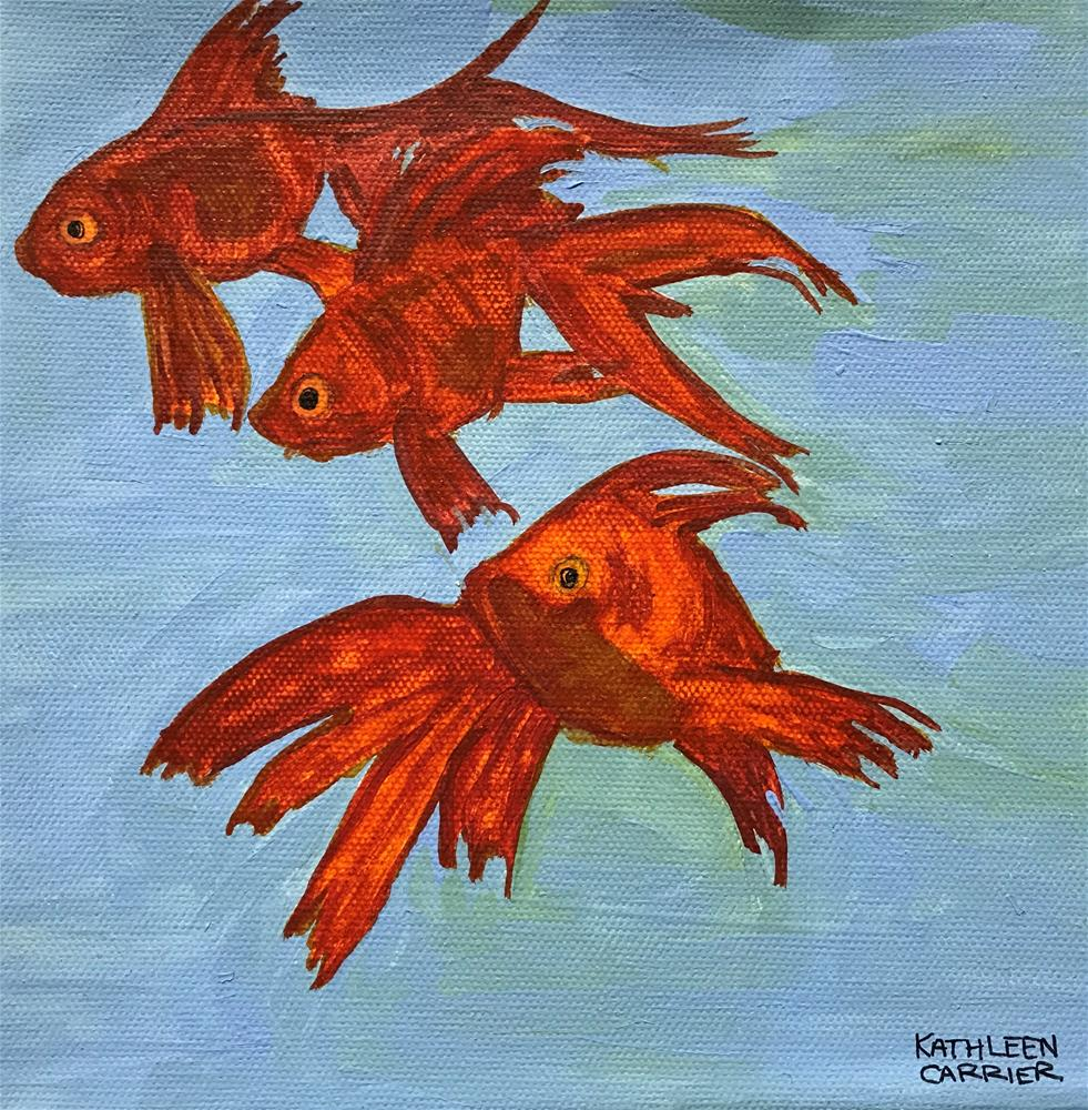 """Fish Fancy"" original fine art by Kathleen Carrier"