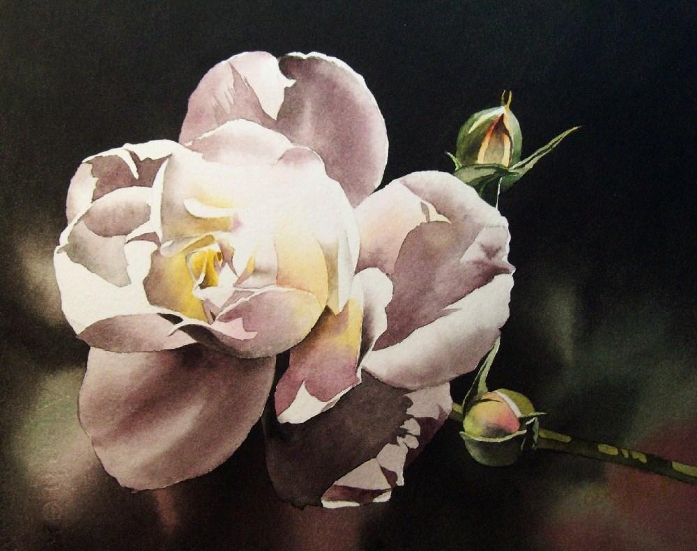 """Victorian Rose"" original fine art by Jacqueline Gnott, TWSA, WHS"