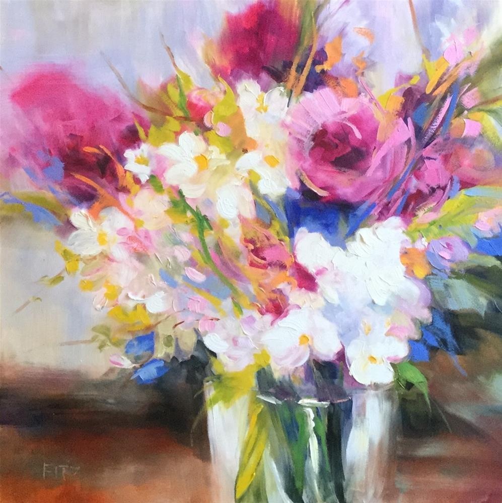 """May Bouquet"" original fine art by Charlotte Fitzgerald"