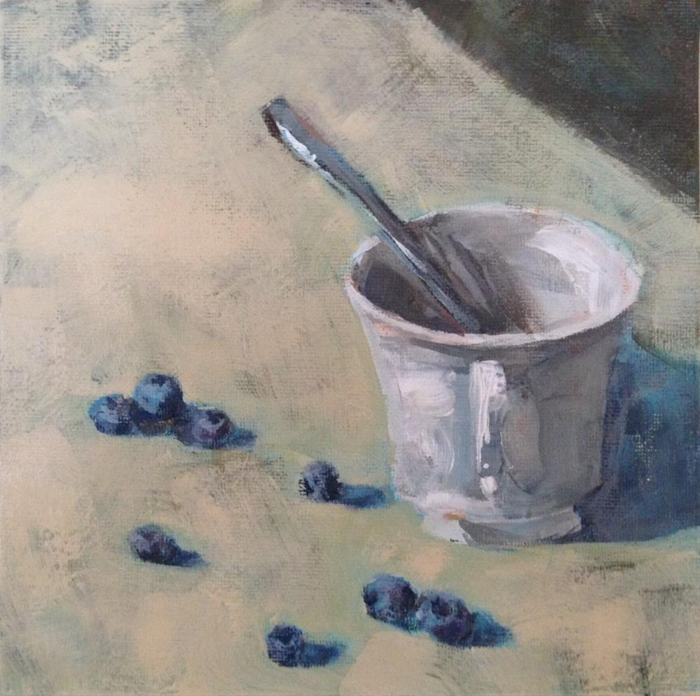 """Scattered Blueberries"" original fine art by Shannon Bauer"