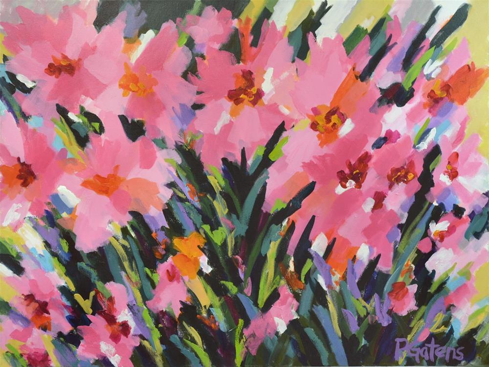 """Pink Poppy Sunrise"" original fine art by Pamela Gatens"
