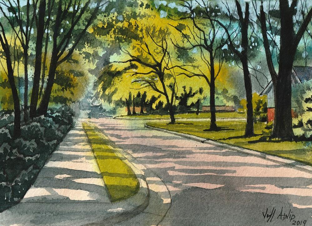 """Sunlight On Corsica Street"" original fine art by Jeff Atnip"