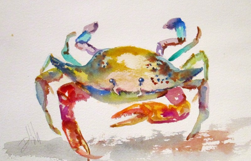 """""""Old Crab"""" original fine art by Delilah Smith"""