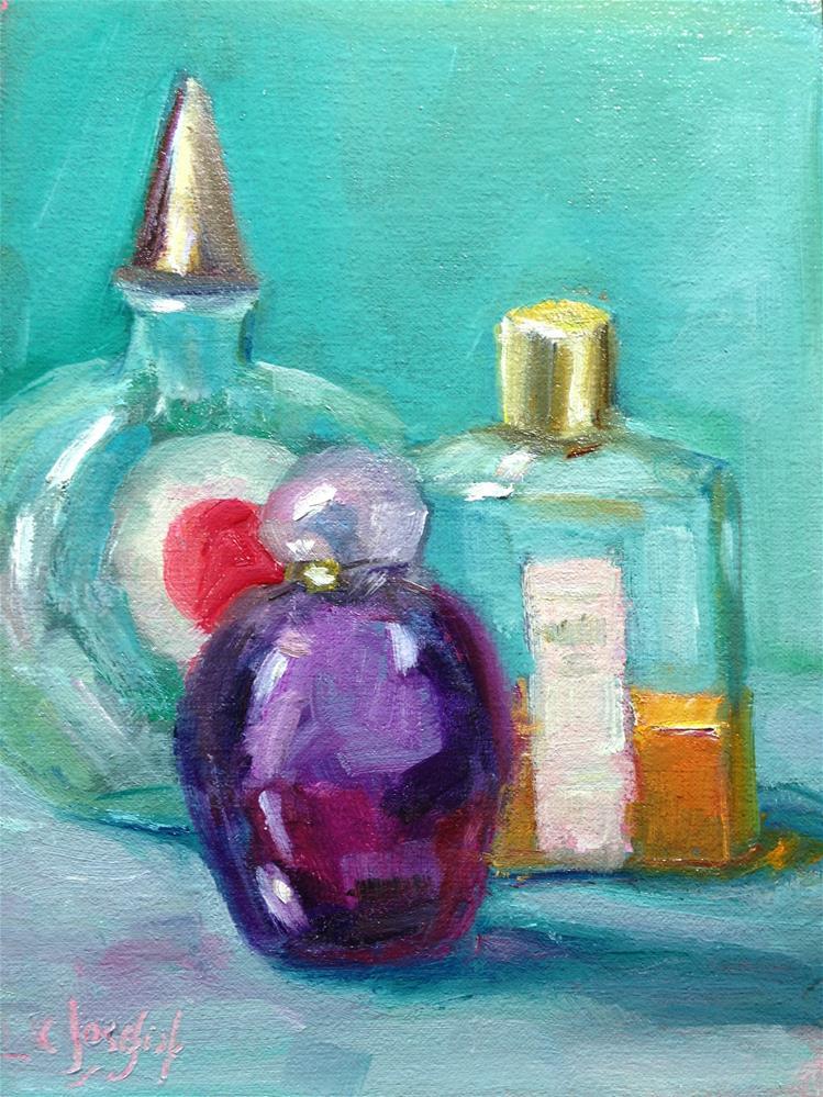 """""""Perfume bottles"""" original fine art by Carol Josefiak"""