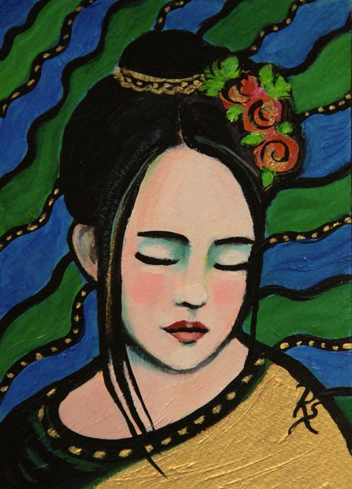 """""""Thailand Beauty"""" original fine art by Roberta Schmidt"""