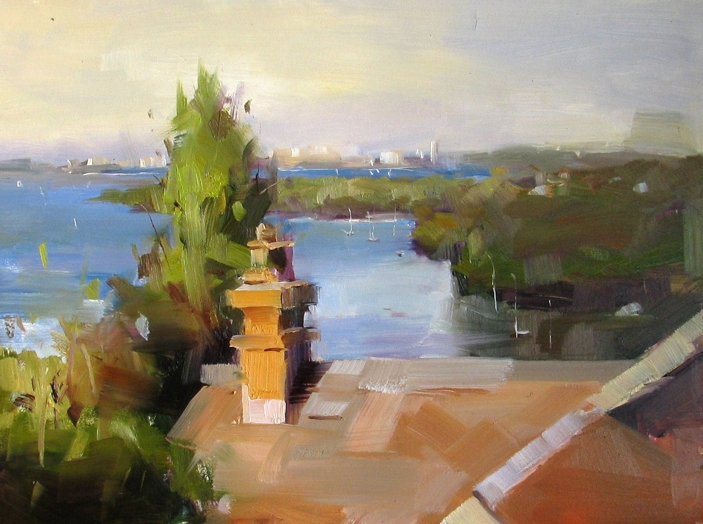 """Study with Colley Whisson"" original fine art by Qiang Huang"