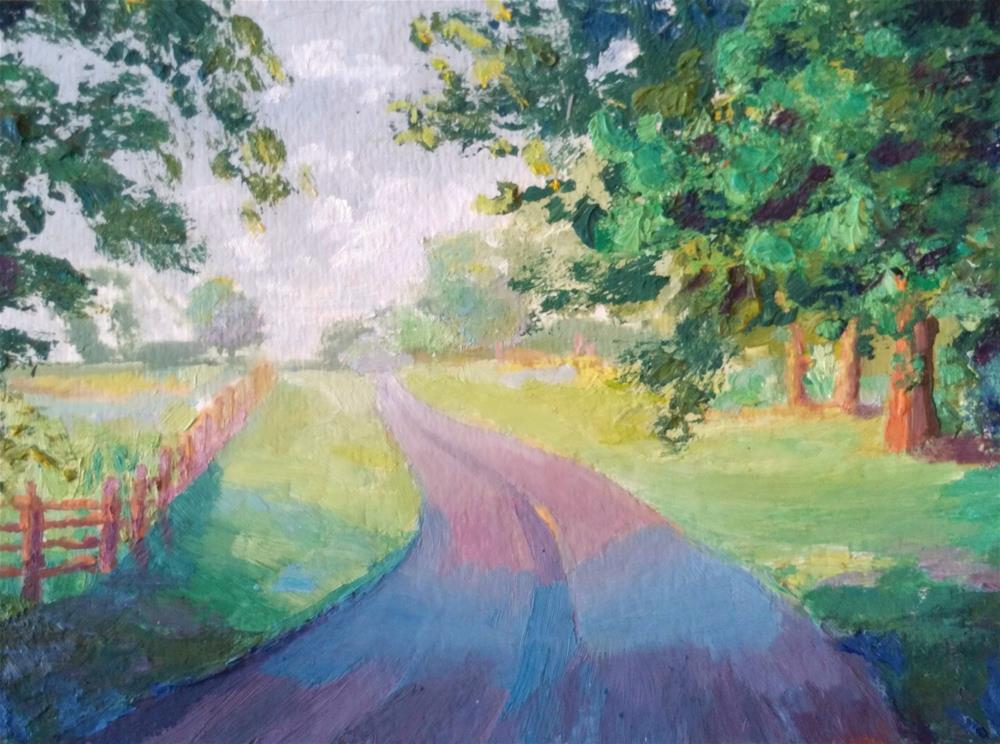 """Country Road"" original fine art by Dana C"
