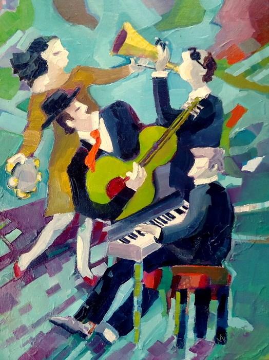 """""""Take it Away"""" original fine art by Laurie Mueller"""