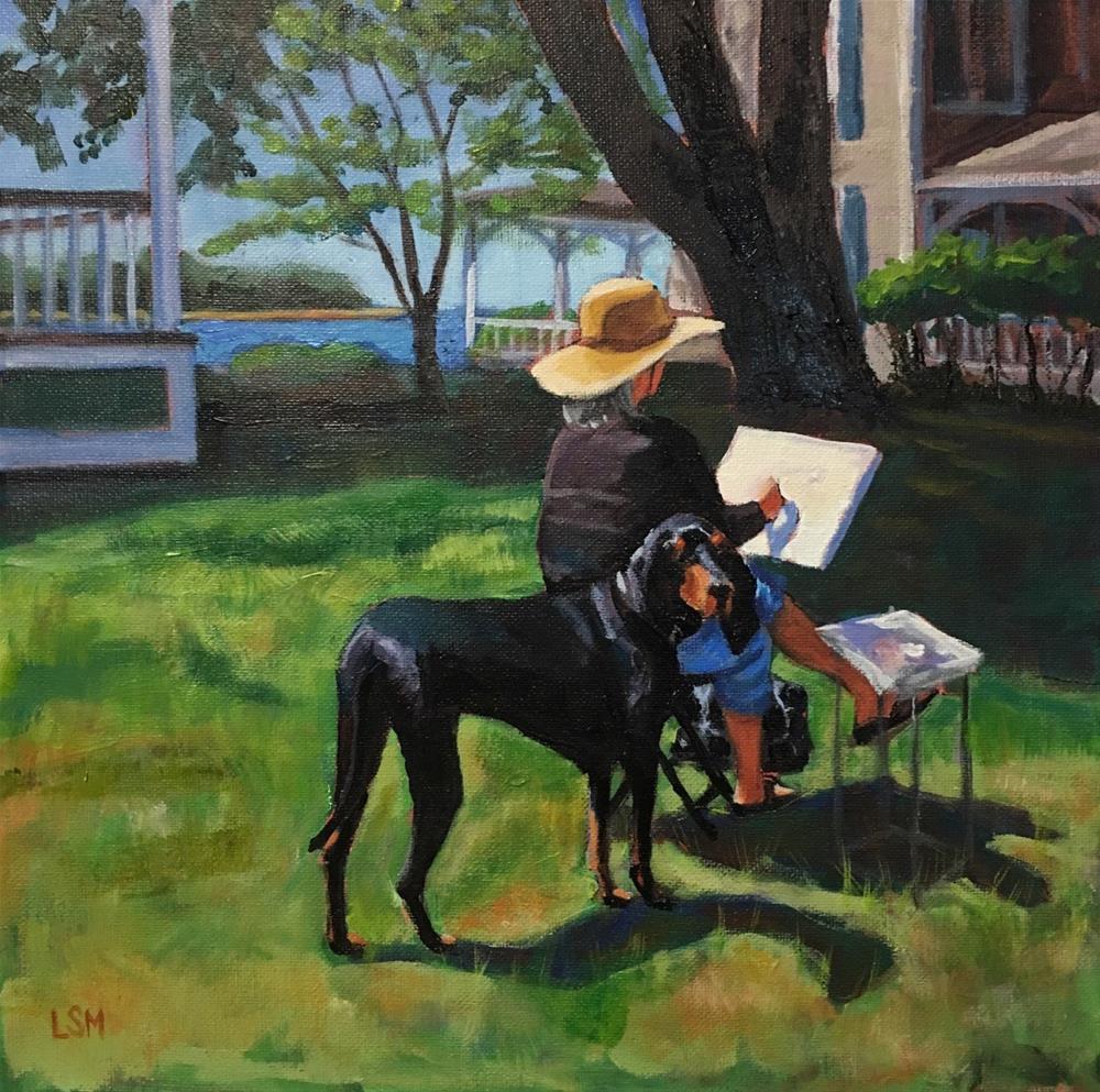 """Friendly Companion"" original fine art by Linda Marino"