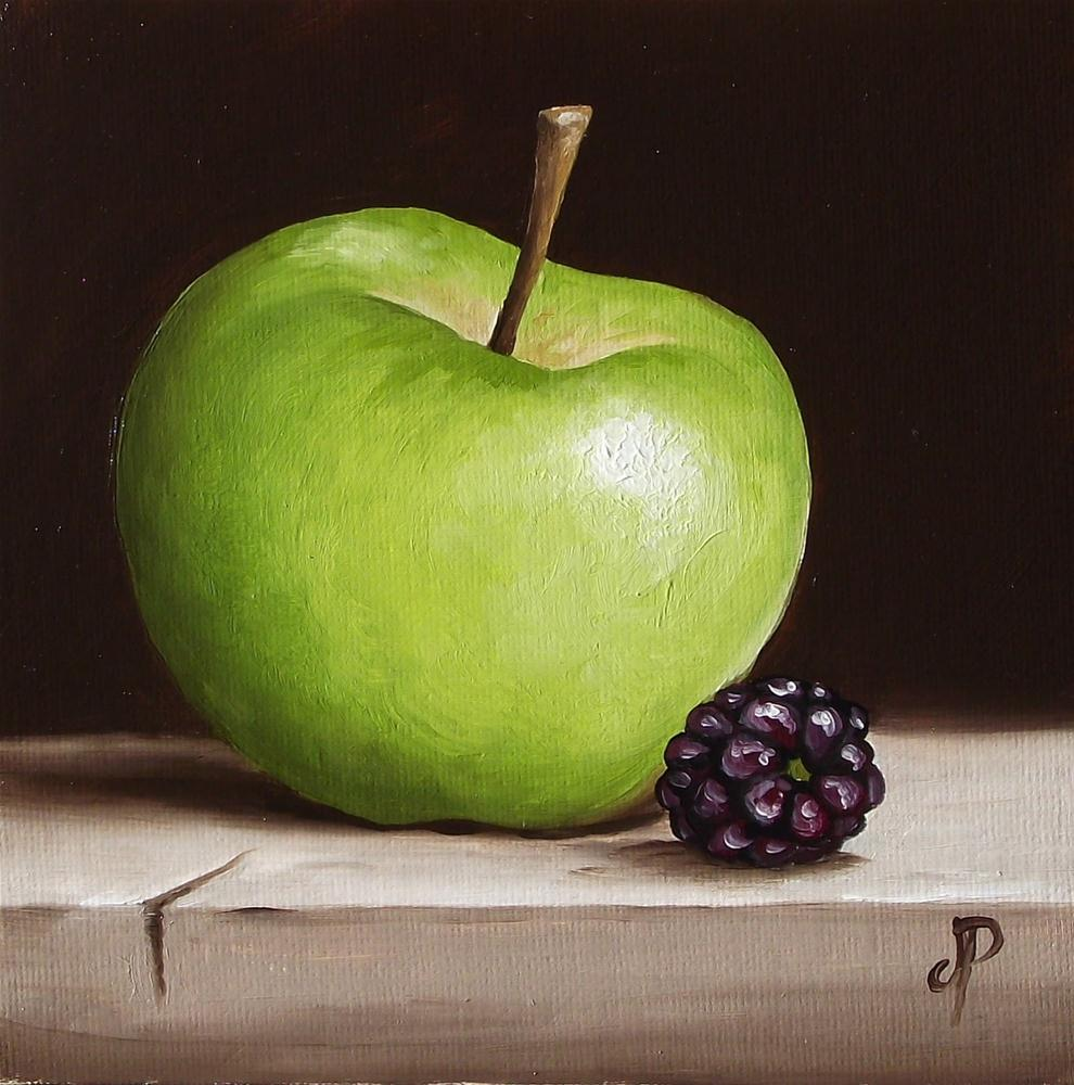 """Apple & Blackberry #3"" original fine art by Jane Palmer"