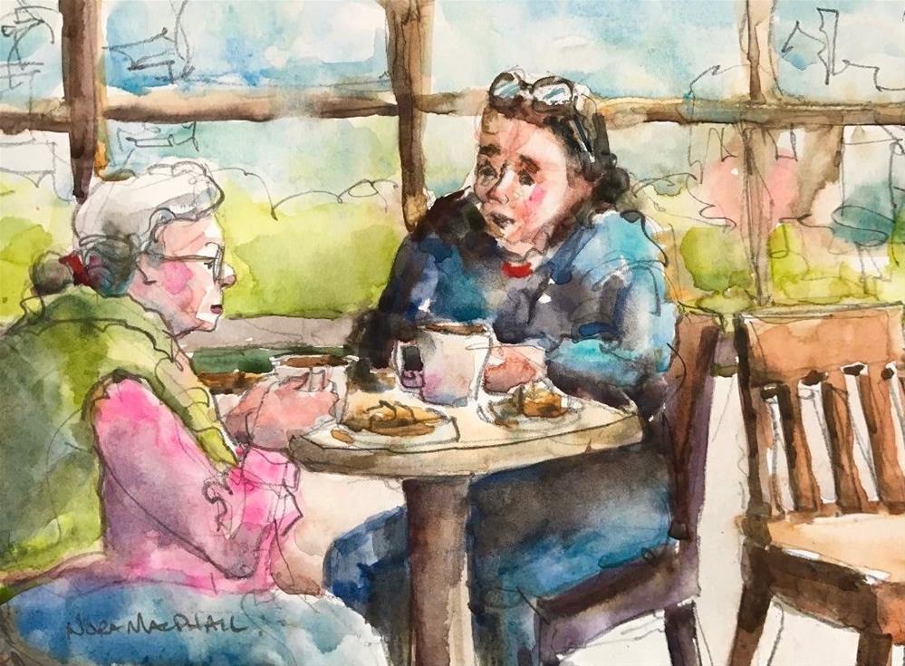 """shared wisdom"" original fine art by Nora MacPhail"