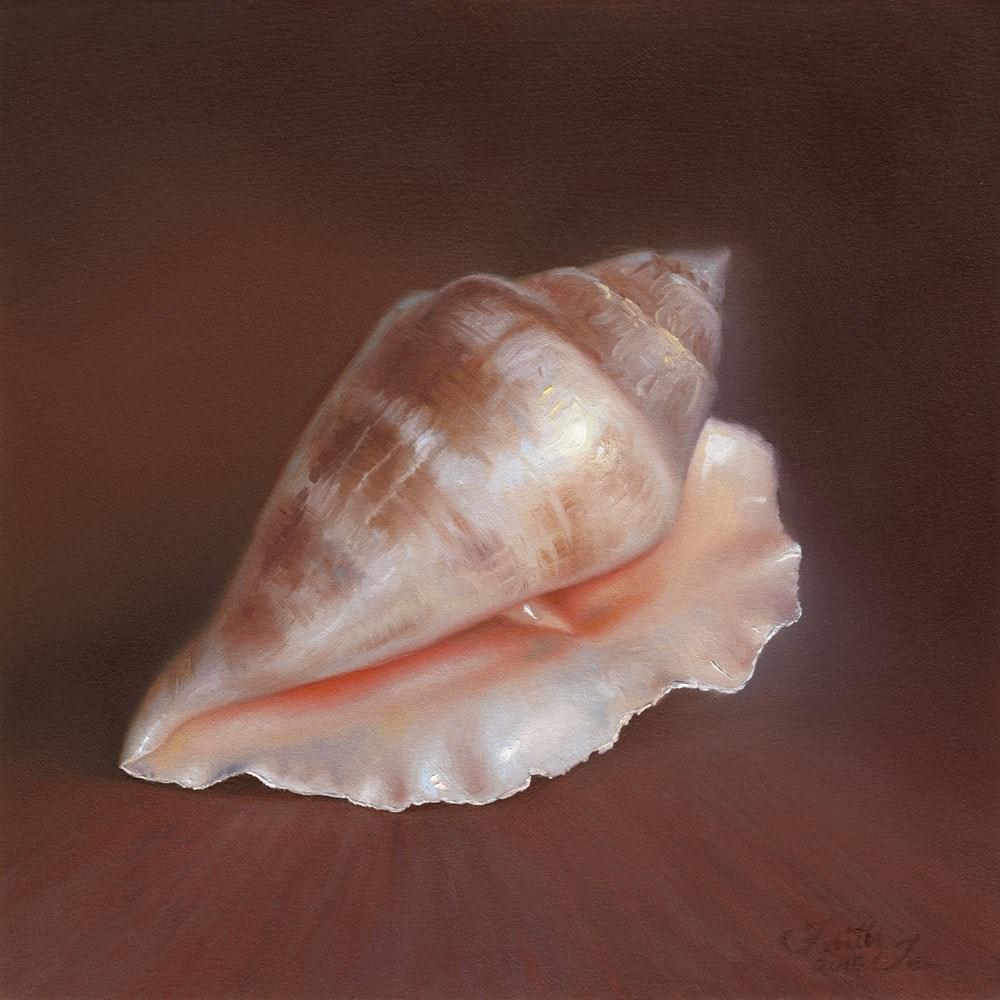 """""""Conch Shell No. 1"""" original fine art by Faith Te"""