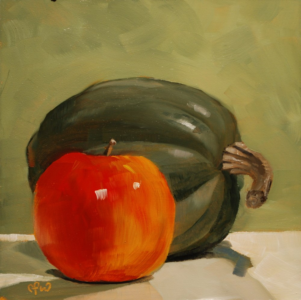 """Squash and Apple"" original fine art by Gary Westlake"