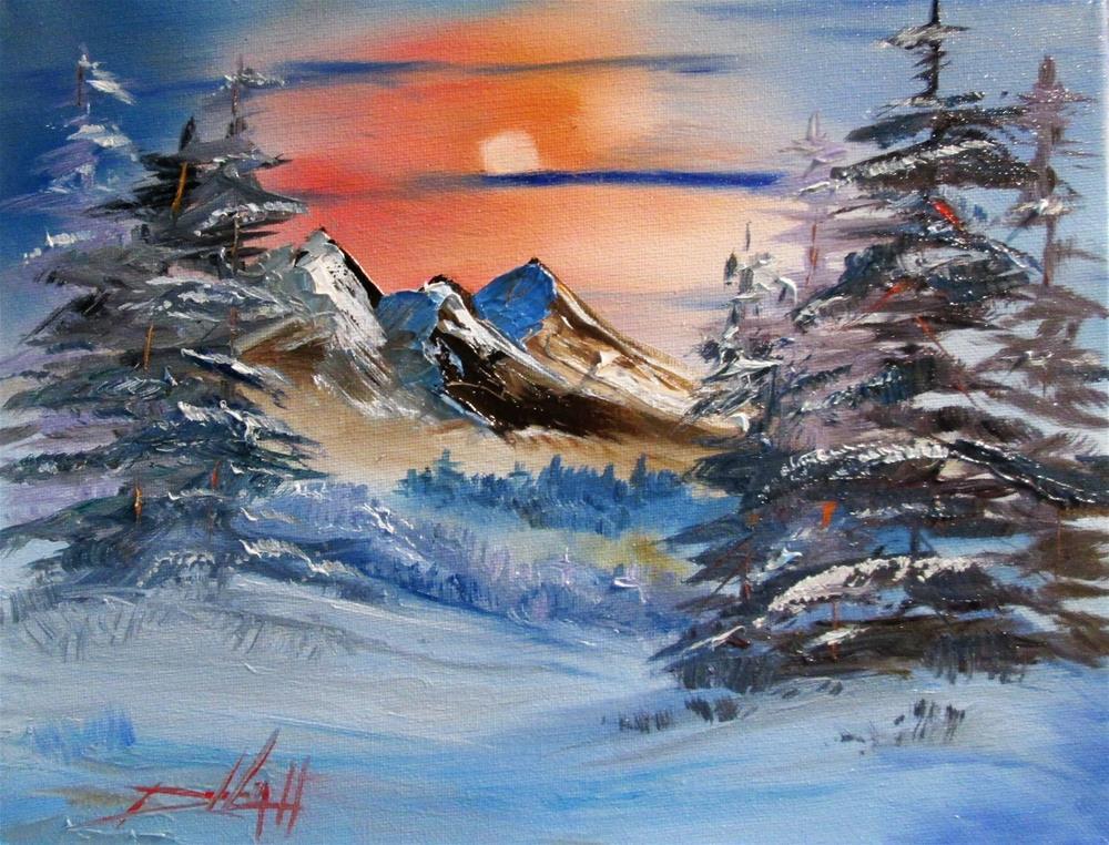 """Winter Sky"" original fine art by Delilah Smith"