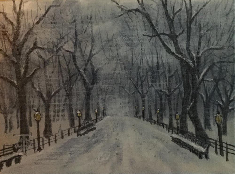 """""""A Place to Park"""" original fine art by T.C. Poole"""