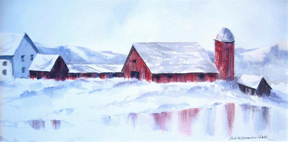"""Endless Winter"" original fine art by Judith Freeman Clark"
