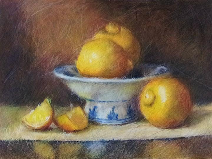 """""""Lemons"""" original fine art by Cindy Haase"""