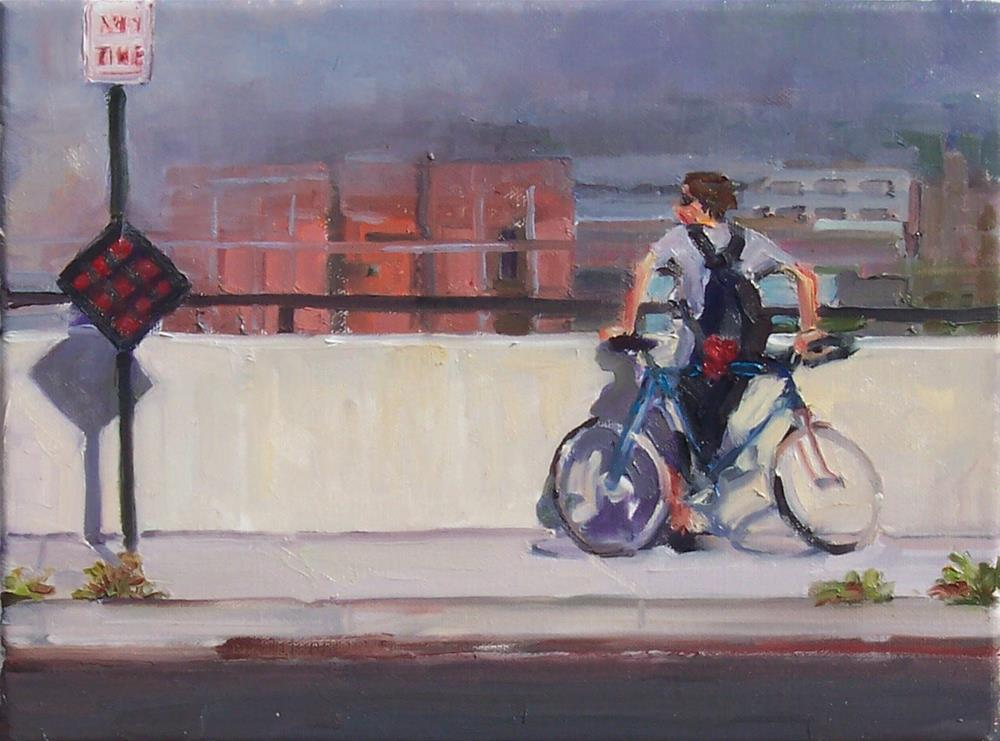 """Any Time,figure,oil on canvas,9x12,price$700"" original fine art by Joy Olney"