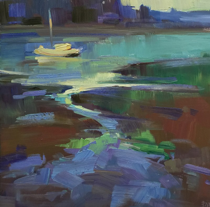 """Yaquina Bay Rhapsody"" original fine art by Patti McNutt"