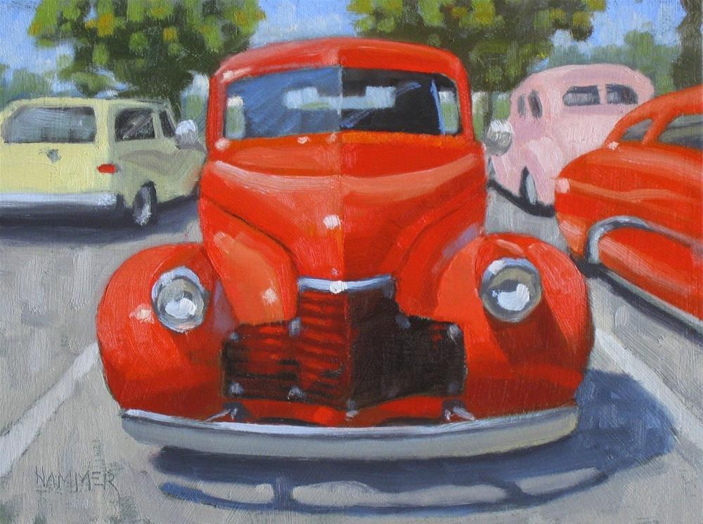 """1940 Chevrolet 6 x 8 oil"" original fine art by Claudia Hammer"