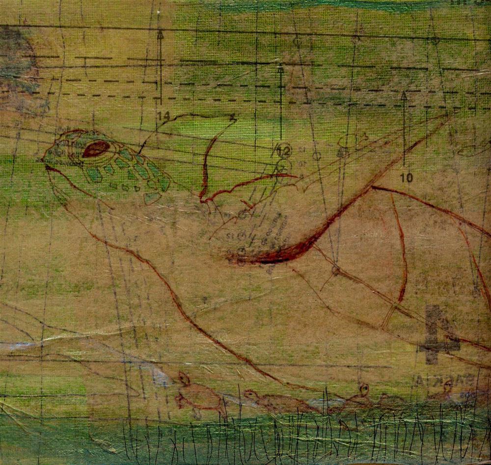 """Turtle"" original fine art by Marie Lynch"
