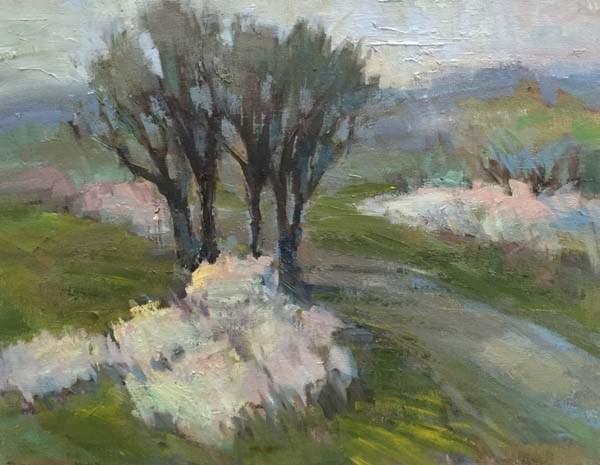 """Almost Spring on the Ridgeline Trail"" original fine art by Patti McNutt"