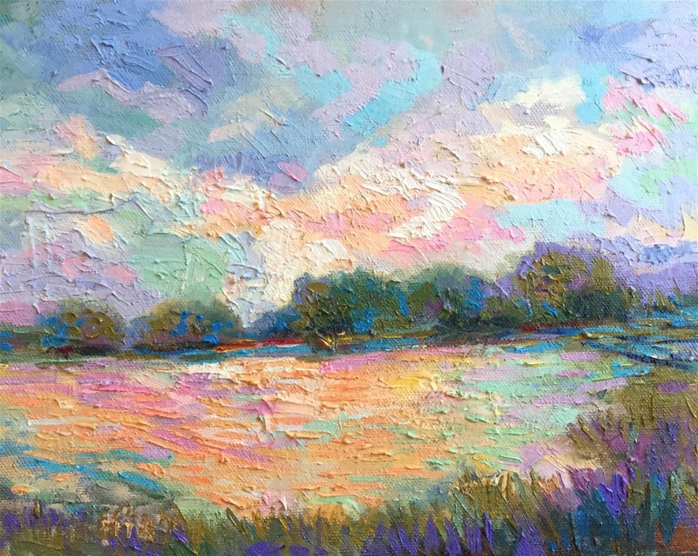 """Impasto Landscape Study 32"" original fine art by Charlotte Fitzgerald"