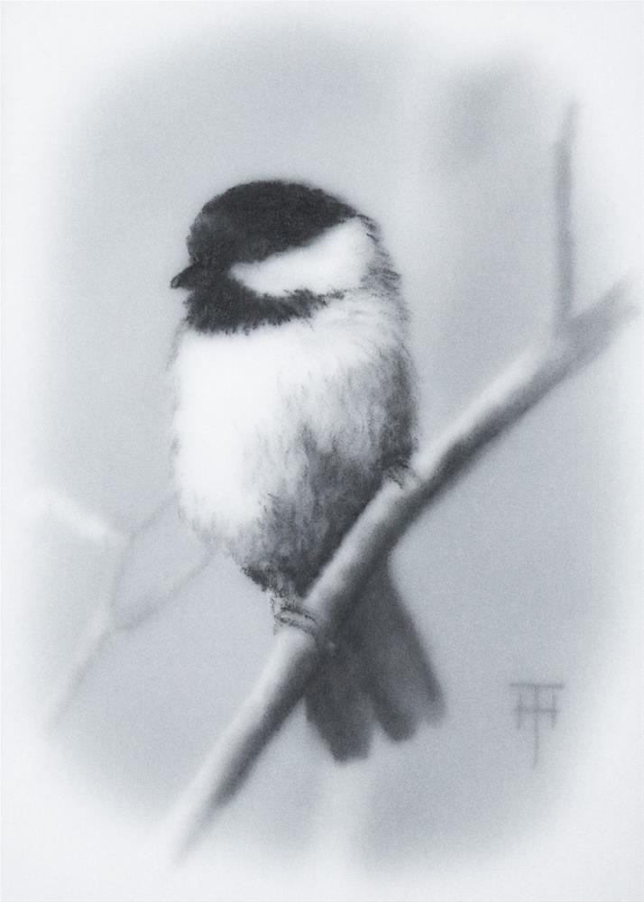 """""""Chickidee"""" original fine art by Terri Heinrichs"""