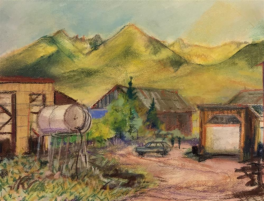 """Greenleaf Lumber, Westcliffe, CO"" original fine art by Jean Krueger"