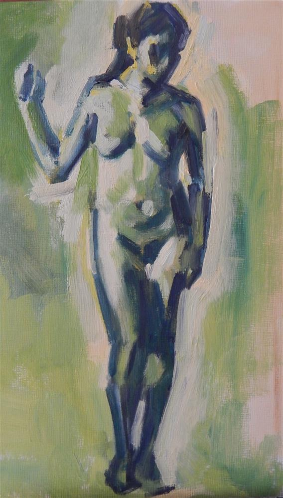 """Nude Study"" original fine art by Megan Schembre"