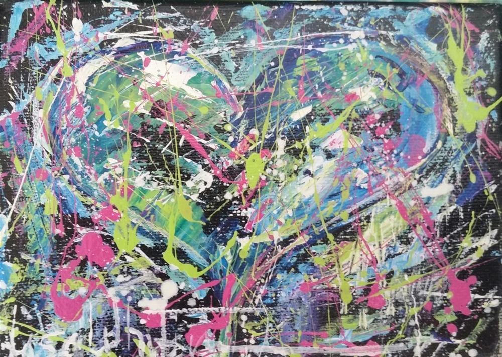 """42 - Craziness"" original fine art by Lisa Rogers"