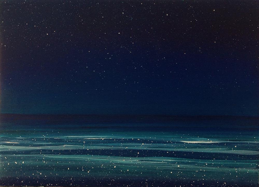 """Before Dawn - Ocean Meditation Series"" original fine art by Anne Ducrot"