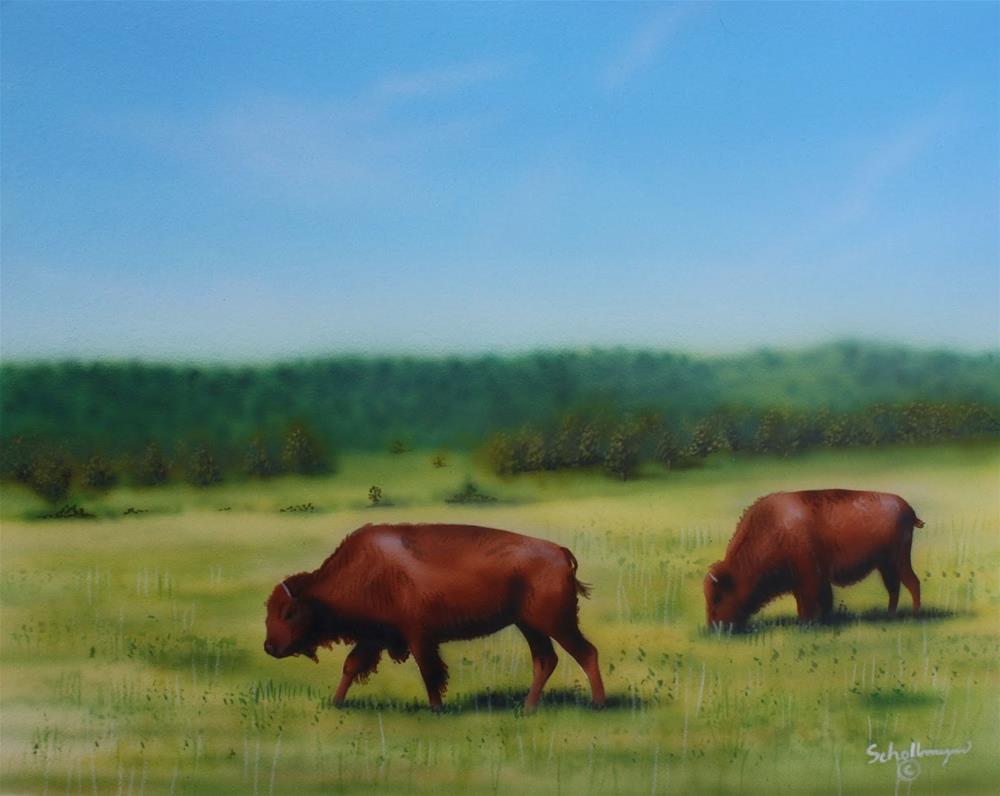 """Custer State Park"" original fine art by Fred Schollmeyer"