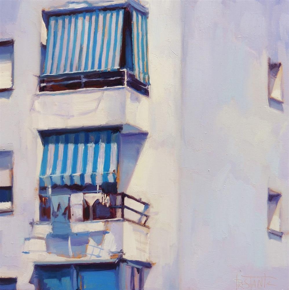 """Stripes awnings"" original fine art by Víctor Tristante"