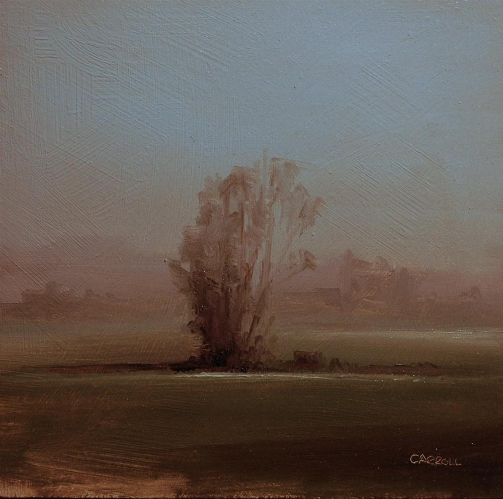 """Early Morning Field - study"" original fine art by Neil Carroll"