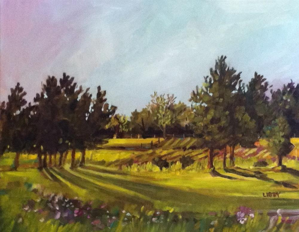 """""""Late Summer Afternoon"""" original fine art by Libby Anderson"""
