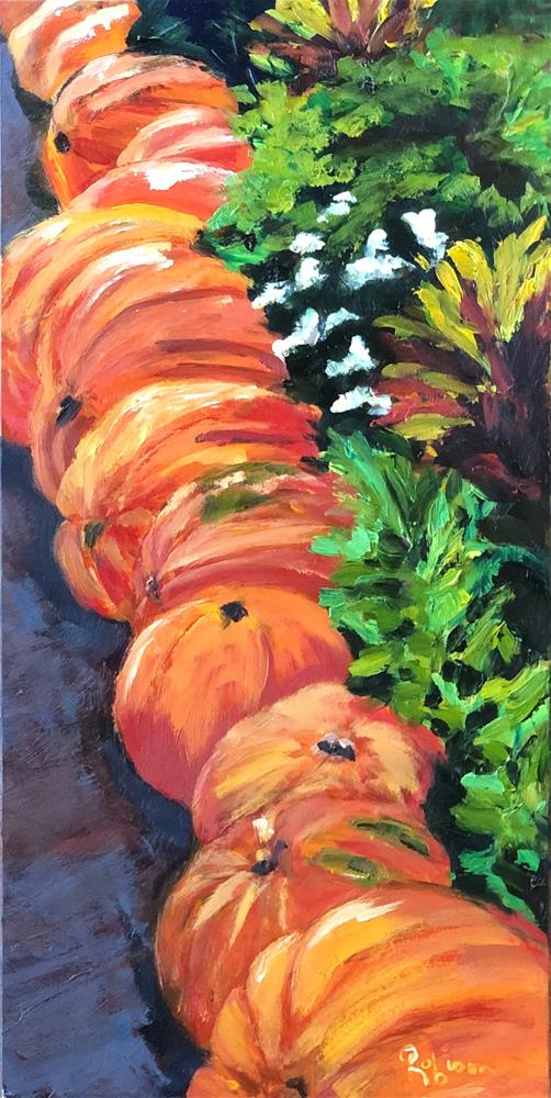 """Dallas Arboretum Pumpkins"" original fine art by Renee Robison"