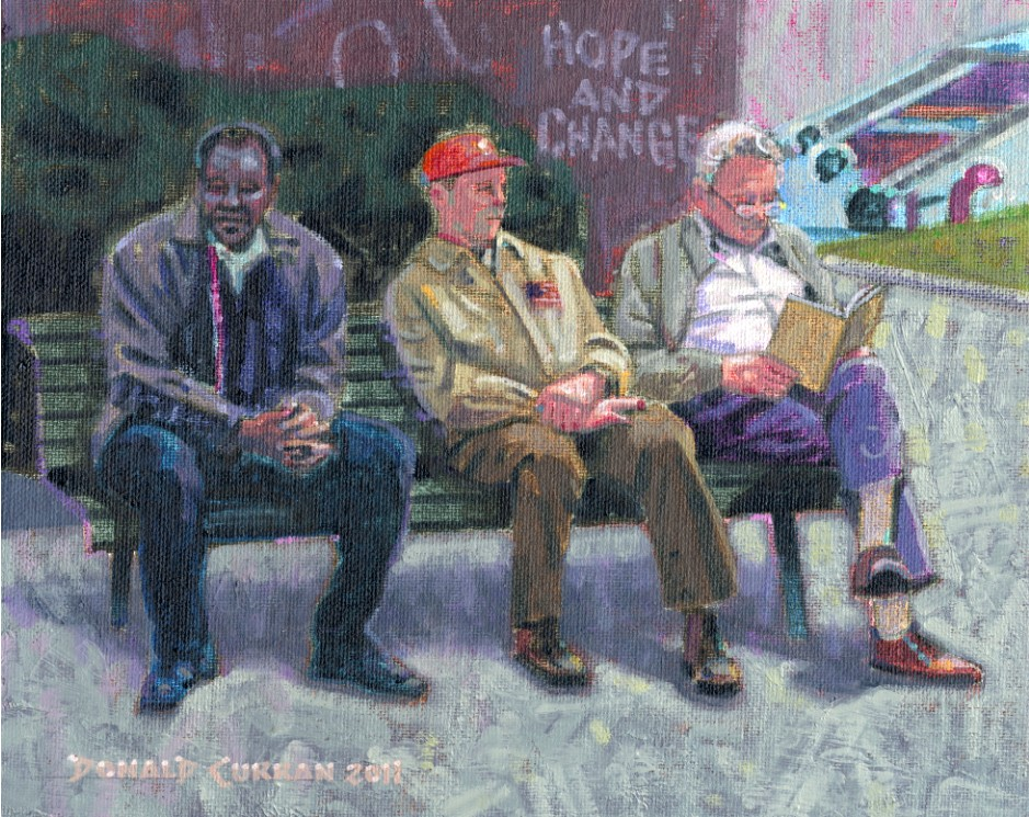 """""""Hope and Change"""" original fine art by Donald Curran"""