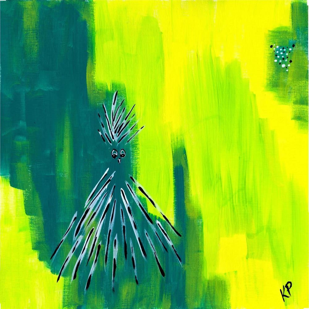 """Chickens say, No Problem!"" original fine art by Kali Parsons"