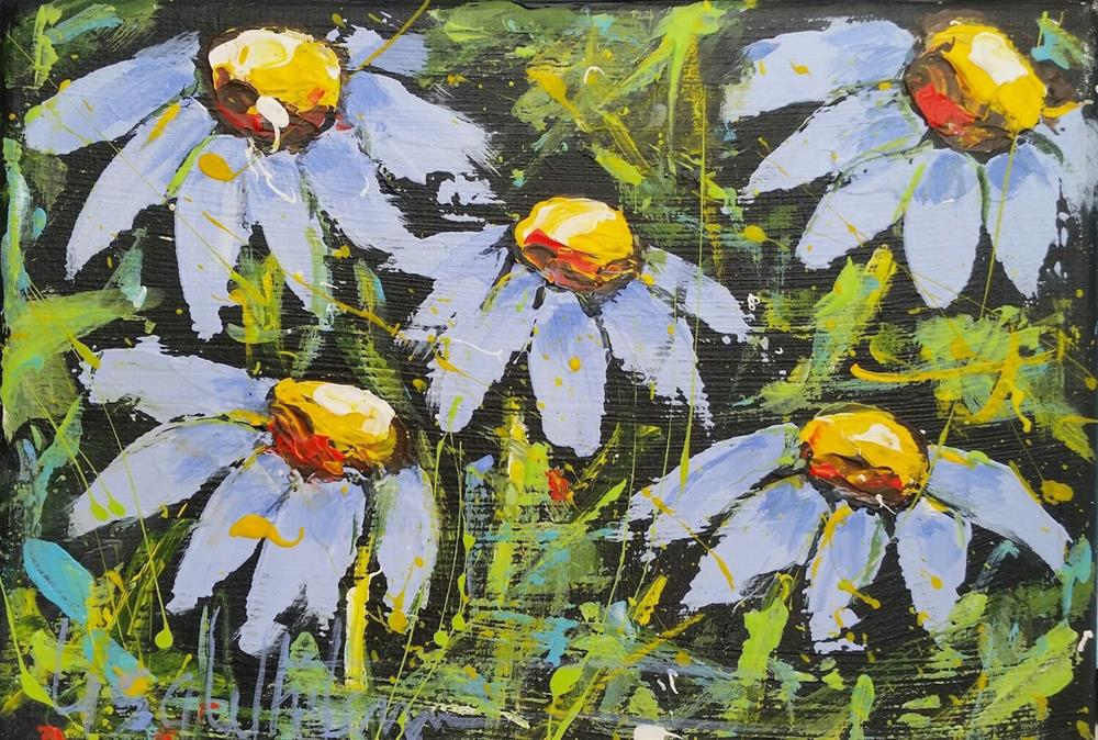 """""""3 - Down and blue"""" original fine art by Lisa Rogers"""