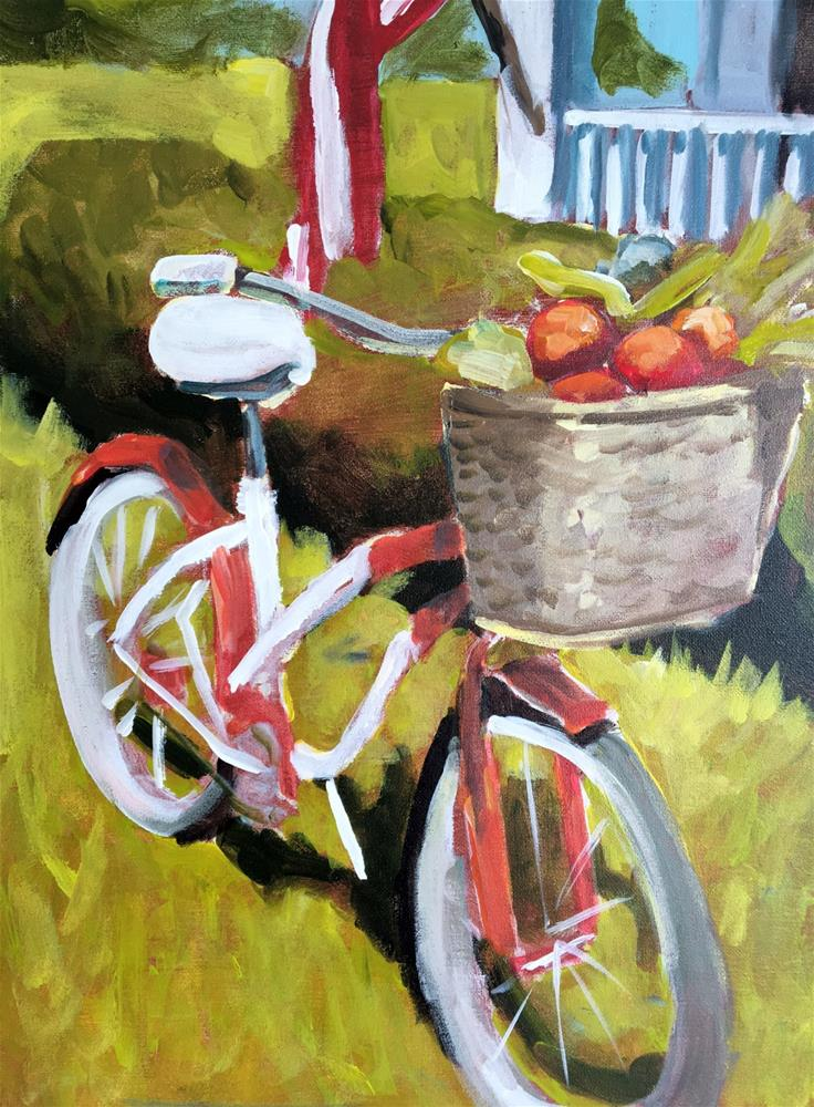 """My Beloved Bicycle"" original fine art by Susan Elizabeth Jones"