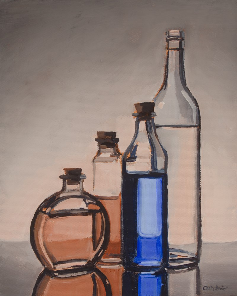 """Potions II"" original fine art by Chris Breier"